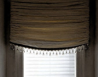 Gathered Balloon Shade Or Valance W Puffy Festoons By