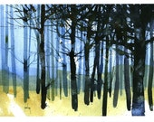 Fine art print from original watercolor painting by Paul Bailey: Tangle knot wood