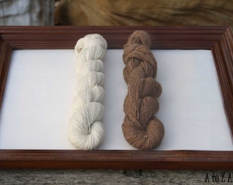 Lace Weight A to Z Alpaca Yarn, Choose from 2 Natural Colors, 50 grams, Ball or Skein