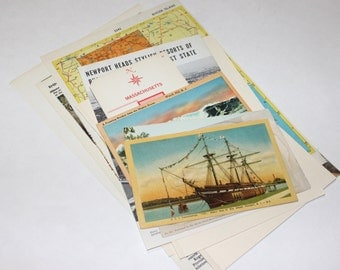 Rhode Island - United States Vintage Travel Collage Kit