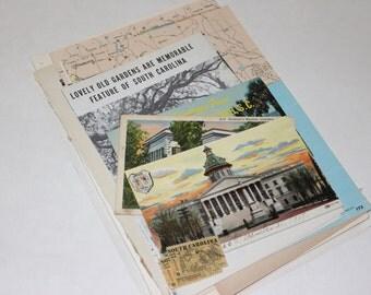 South Carolina - United States Vintage Travel Collage Kit