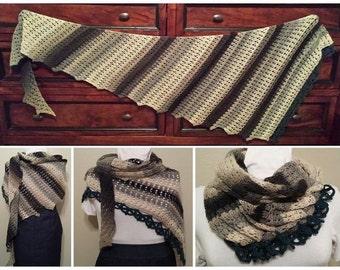 Swirling Maelstrom Crochet Shawl Pattern