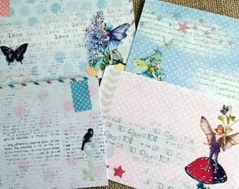 Set of 4 Polka Dot Fairies Post Cards
