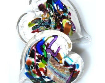 Pretty White Heart Paperweight. Solid Glass Heart.  Valentines Day. Hand formed Art Glass.  Made in Seattle.  Artist Dehanna Jones.