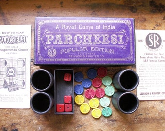 Vintage Parcheesi Game with Original Directions