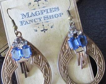Violet Spring Vintage Recycled Earrings