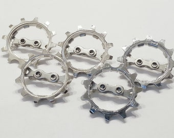 Bicycle Bike Gear Boutonnieres Mens Groom Best Man Wedding Groomsmen, Set of 5 - ACBOUT04