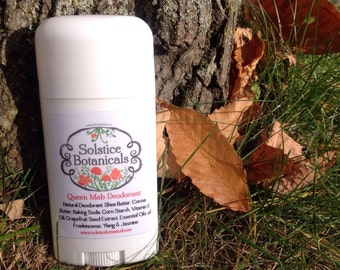 Queen Mab Aluminum Free Natural Deodorant with Ylang, Jasmine & Frankincense