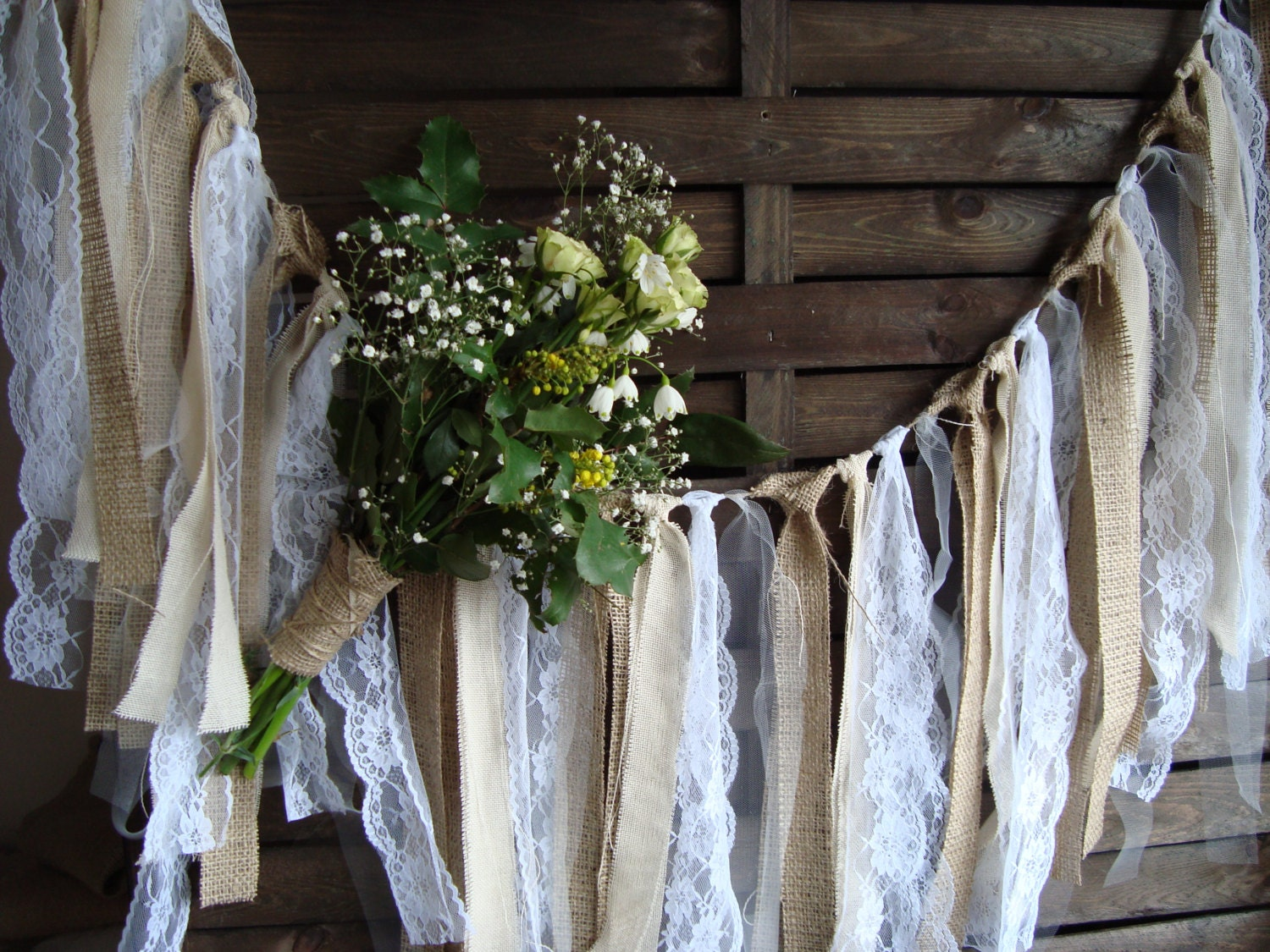 rustic wedding decorations ideas 5 ft rustic lace garland burlap garland rag bunting home 7214