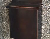 Flush Mount vertical patina Copper Mailbox