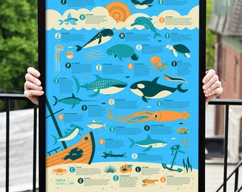 Ocean Alphabet Kids Poster