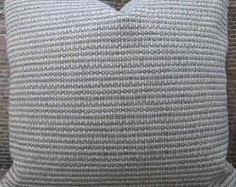 Designer Pillow Cover Lumbar, 16 x16, 18 x 18, 20 x 20, 22 x 22, 24 x 24 - Tweed Slate Gray