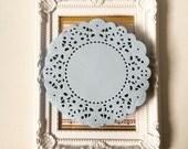 Light blue color paper doilies for wedding decoration/ pack