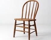 FREE SHIP antique primitive spindle back chair