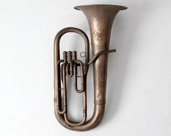 vintage baritone, horn instrument