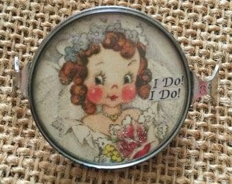 "Vintage Handcrafted Bride ""I DO I DO"" Bracelet Piece"