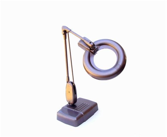 Vintage Dazor Magnifier Desk Lamp Industrial Lighting
