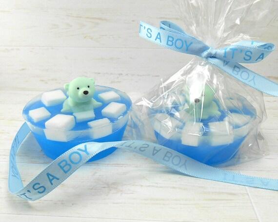 Minty Blue Polar Bear On Ice Soap Baby Boy by SnowsCutSoaps