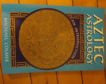 Vintage Paperback Book Aztec Astrology by Michael Colmer Occult Mysticism New Age