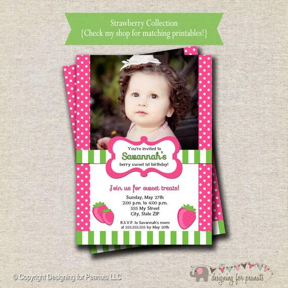 Strawberry Shortcake invitation strawberry invite digital printable