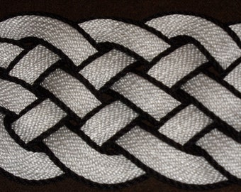 """White and Black  Accented Doormat 30 x 12"""" Rope Rug Beautiful Nautical Door mat Knotted"""