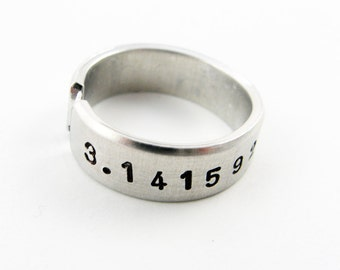 Pi Ring (Science Jewelry, Mathematics, Geekery, Math Teacher Gift)
