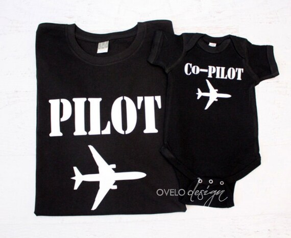 Daddy and Me Pilot Co-pilot Pictured in Black