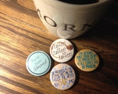"""Lorelai Gilmore 1.5"""" button set"""