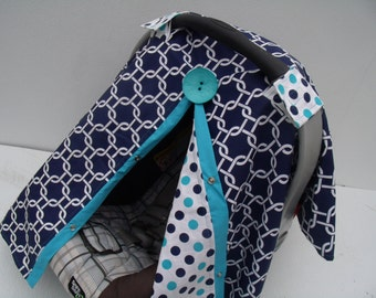 Car seat Cover Navy Geometric Dots