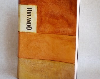 Virginia Woolf's ORLANDO book bound in leather