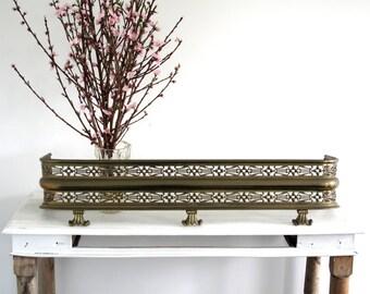 Metal Fire Guard - Ornate Mantle Piece - Art Deco Style Fire Place Guard / Fireplace Guard