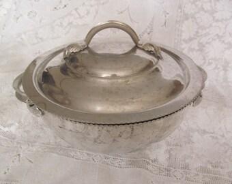 Vintage Aluminum Casserole , Bowl with Lid