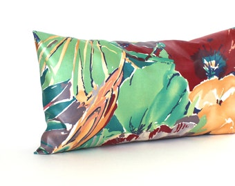 Lumbar Pillow Cover Multi Color Tropical Leaf Accent Pillow Decorative Throw Pillow Cover Green Pillow 10x20 12x16 12x18 12x21 12x24