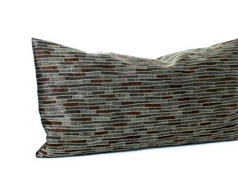 Lumbar Pillow Cover Blue Pillow Cover Stripe Upholstery Decorative Pillow Oblong Throw Pillow Cover 12x24 12x21 12x18 12x16 10x20