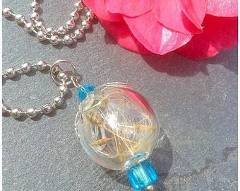 Glass ball wish necklace