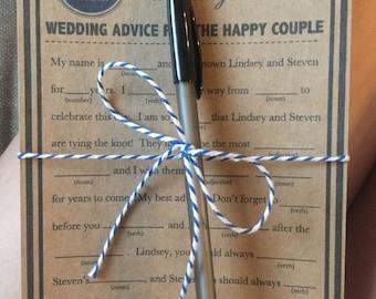 50 Wedding Printed Mad Libs a fun Guest Book Alternative