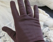 Beautiful Brown Ladies Nylon Wrist Gloves Stretch