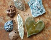 SUPER SALE / Ceramic Pendant Set (12-29-187)