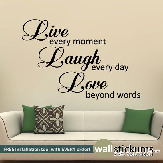 Beyond Words Customizable Wall Decor Kohls : Live laugh love wall quote decal decor sticker