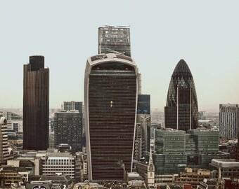 "London photography, London art print - ""London - City of Glass"""