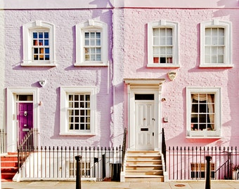 "London art print, London colorful houses, London photography -"" Made In Chelsea"""
