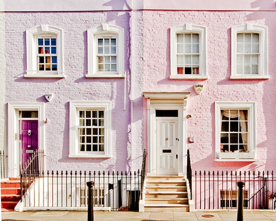 London art print, London colorful houses, London photography - Made In Chelsea
