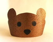 First Birthday Boy -Set of Six party Hats- Birthday Party Hat, Teddy Bear Picnic, Teddy Bear Birthday, Bear Crown, Lumberjack Party, Camping