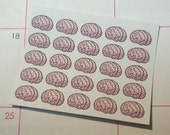 Brain Stickers-Set of 50 (perfect for the Walking Dead)