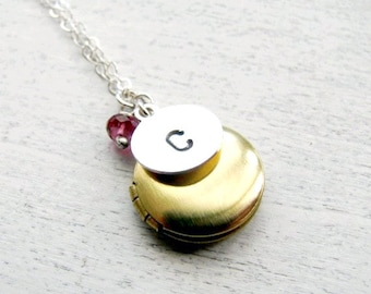 Mother's Day Gift, New Mother Gift, Mom Gift, May Birthday Gift, May Birthstone Jewelry, Custom Birthstone Necklace, Birthstone Locket