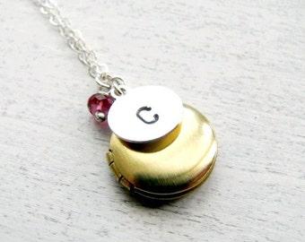 Personalized Locket, New Mother Gift, Mom Gift, Birthday Gift, December Birthstone Jewelry, Custom Birthstone Necklace, Birthstone Locket