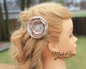 19 Different Colors-Satin Flower Hair Pin-Wedding Flower Clip-Bride or Bridesmaid Hair Clip