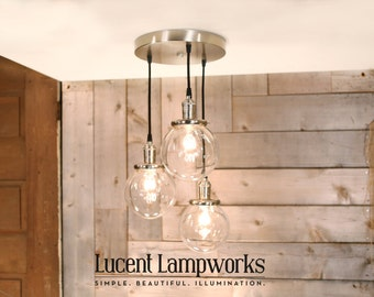 Chandelier Light - The Waterfall Piece - Three beautiful tired fixtures from one canopy