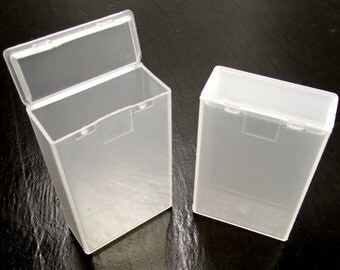 Small Flip-Top Boxes: Semi-Opaque, Single Hinge, Flex-A-Top® FT-9 Brand Snap-Top Lid Boxes - Set of 18 Boxes