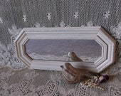 Shabby, French Country Cottage, Mirror, octangle, creamy white, long mirror